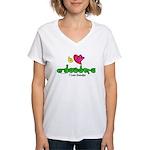 I-L-Y Grandpa Women's V-Neck T-Shirt