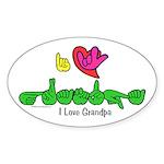 I-L-Y Grandpa Sticker (Oval)