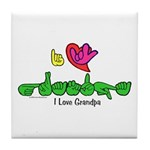 I-L-Y Grandpa Tile Coaster