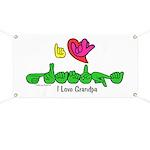I-L-Y Grandpa Banner