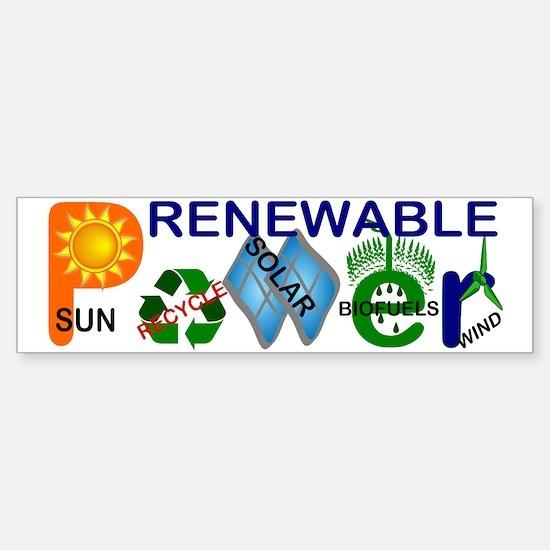 renewablepowerlg Bumper Bumper Bumper Sticker