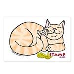 Orange Tabby ASL Kitty Postcards (Package of 8)