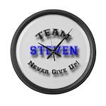 Team Steven 2 Large Wall Clock
