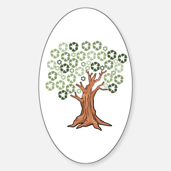 Cute Cycle Sticker (Oval)