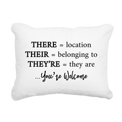 There, Their, They're Rectangular Canvas Pillow