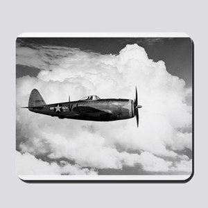 P-47 and Clouds Mousepad