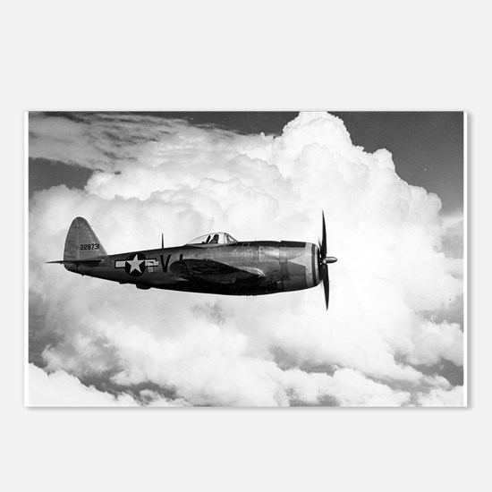 P-47 and Clouds Postcards (Package of 8)