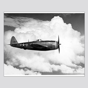 P-47 and Clouds Small Poster