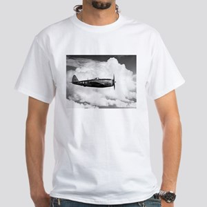 P-47 and Clouds White T-Shirt