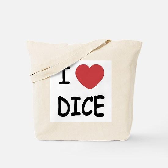 I heart dice Tote Bag