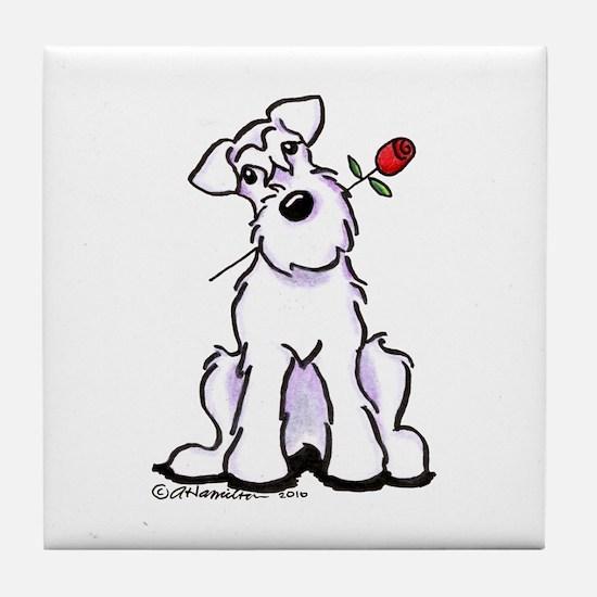Schnauzer Sweetheart Tile Coaster