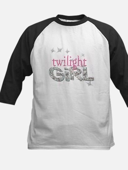 Twilight Girl Pink Kids Baseball Jersey