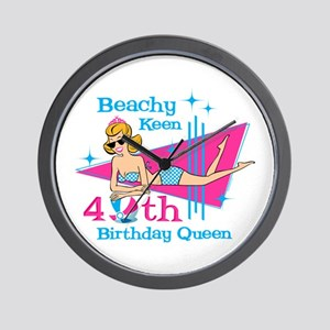 Beachy Keen 40th Birthday Wall Clock