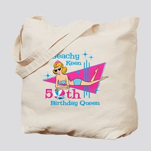 Beachy Keen 50th Birthday Tote Bag