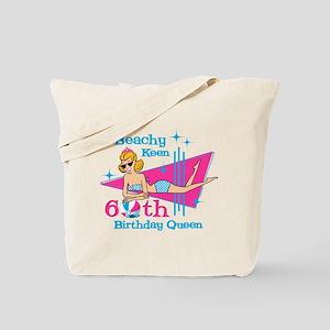 Beachy Keen 60th Birthday Tote Bag