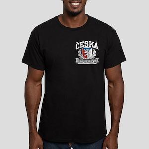 Ceska Republika Men's Fitted T-Shirt (dark)