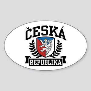 Ceska Republika Sticker (Oval 10 pk)