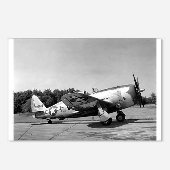 Funny P 47 thunderbolt Postcards (Package of 8)