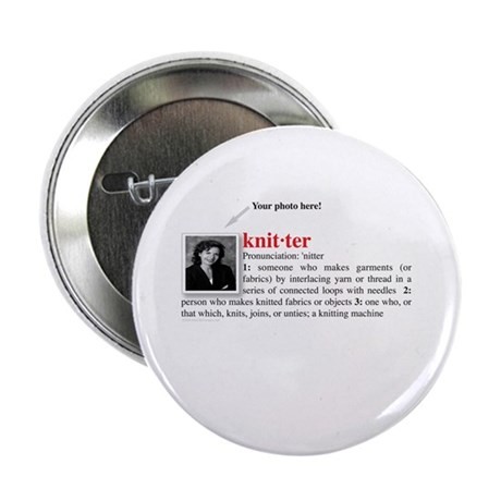 "Definition of a Knitter 2.25"" Button (10 pack)"