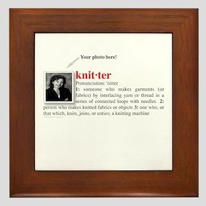 Definition of a Knitter Framed Tile