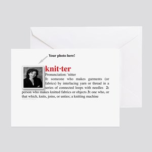 Definition of a Knitter Greeting Cards (Package of