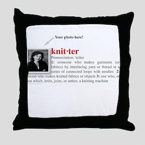 Definition of a Knitter Throw Pillow