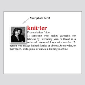 Definition of a Knitter Small Poster