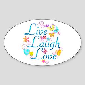 Live Laugh Love Sticker (Oval)