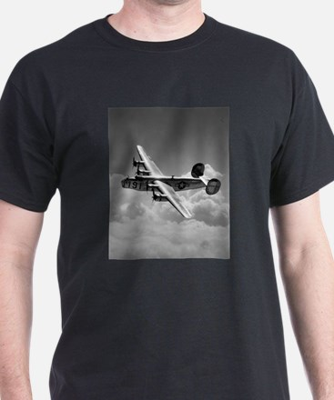 B-24 Shines Black T-Shirt