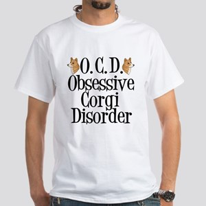 Corgi Obsessed White T-Shirt