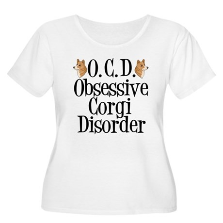Corgi Obsessed Women's Plus Size Scoop Neck T-Shir