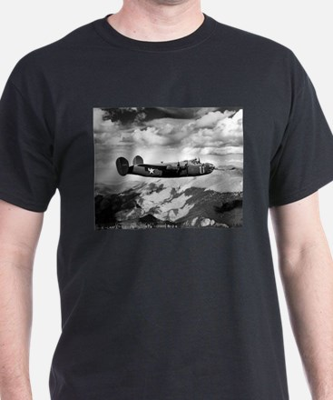 B-24 Flying High Black T-Shirt