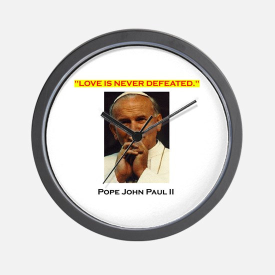 'Commander Catholic's Uniform' Wall Clock