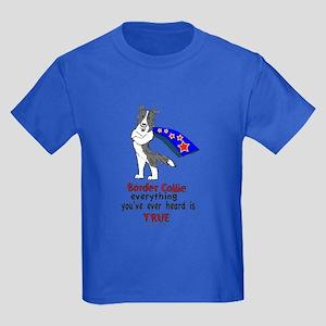 Super Border Collie blue merle Kids Dark T-Shirt