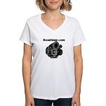 Cartoon Turbo - Women's V-Neck T-Shirt