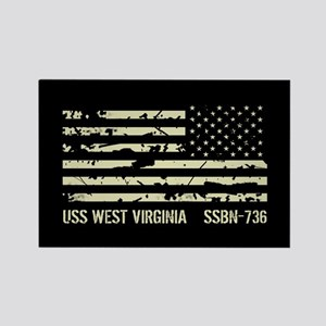 USS West Virginia Rectangle Magnet