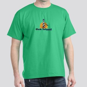 Oak Island NC - Lighthouse Design Dark T-Shirt