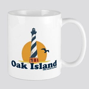 Oak Island NC - Lighthouse Design Mug