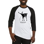 The Bad Black Dog Tshirt art copy Baseball Jersey
