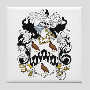 Quayle Coat of Arms Tile Coaster