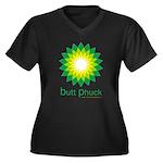 bp Women's Plus Size V-Neck Dark T-Shirt