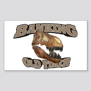 Banking Old Timer Sticker (Rectangle)