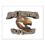 Bus Driving Old Timer Small Poster