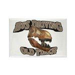 Bus Driving Old Timer Rectangle Magnet (10 pack)