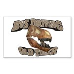 Bus Driving Old Timer Sticker (Rectangle 10 pk)