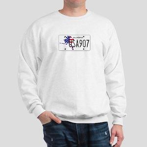 AK USA License Plate Sweatshirt