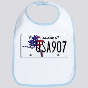 AK USA License Plate Bib