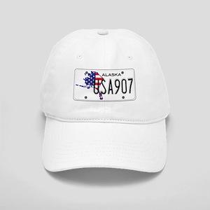 AK USA License Plate Cap