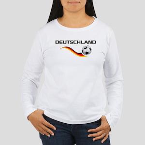Soccer DEUTSCHLAND with back print Women's Long Sl