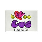 I-L-Y My Cat Rectangle Magnet